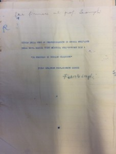 Volpi Firenze Longhi tesi 1956